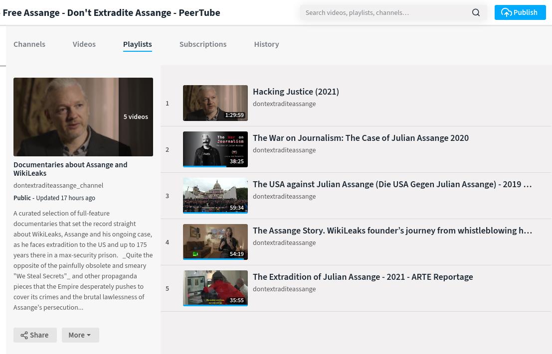 screenshot_documentaries_playlist_-_emergeheart_-_free_assange_-_don_t_extradite_assange_-_peertube.png