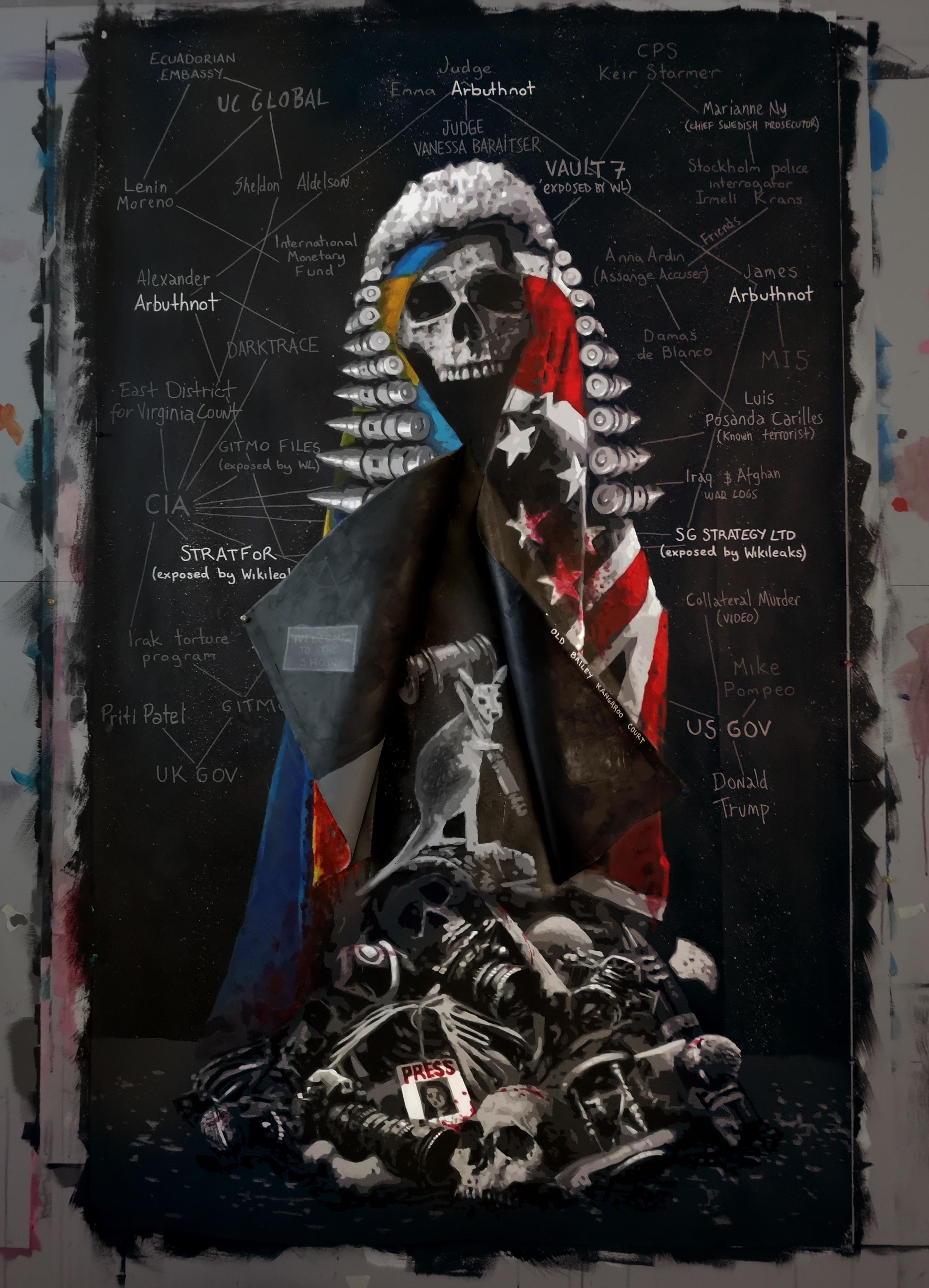 """Lady Justice"" by Norwegian street-artist AFK"